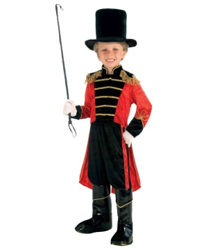 Circus Ring Master Boy Costume