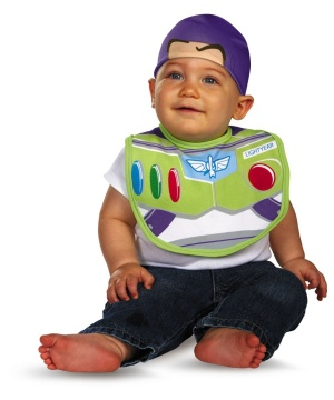Buzz Lightwear Bib and Hat Baby Costume