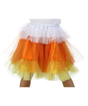 Candy Corn Glitter Girls Skirt deluxe