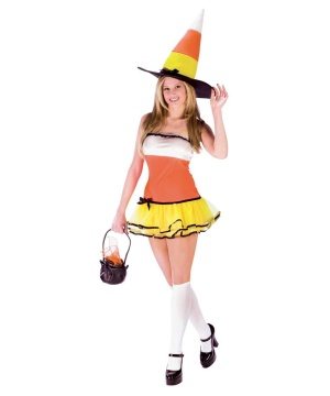 Candy Corn Treat Adult Costume
