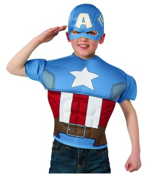 Captain America Boys Muscle Shirt