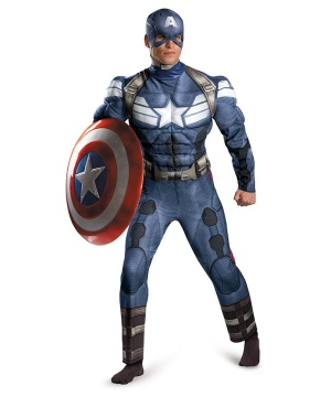 Captain America Movie 2 Mens Classic Muscle Costume