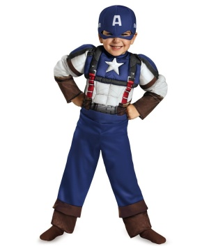Captain America Retro Toddler Muscle Costume