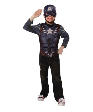 Captain America Stealth Boys Costume Top