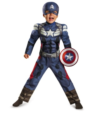 Captain America the Winter Soldier Toddler Muscle Costume