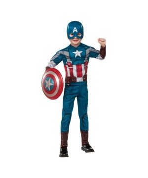 Captain America Winter Soldier deluxe Boys Costume