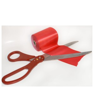 Ceremonial Grand Opening Scissor and Red Ribbon Kit