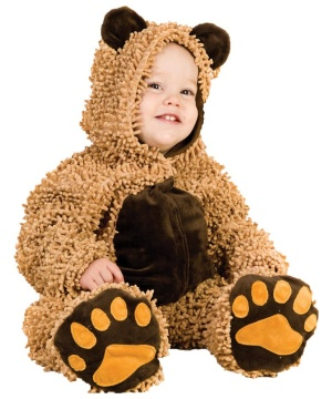 Chenille Teddy Bear Baby Costume