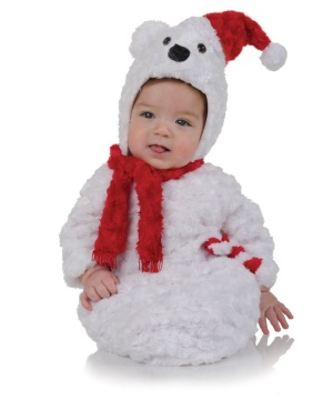 Christmas Polar Bear Babies Bunting Costume