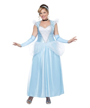 womens cinderella plus size costume