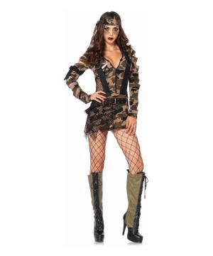 Combat Babe Womens Costume deluxe