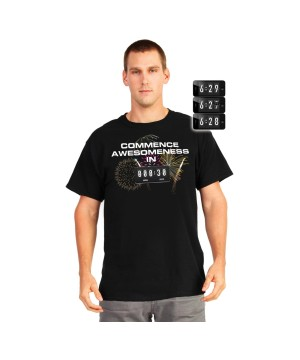Awesomeness Countdown Adult Digital T-shirt