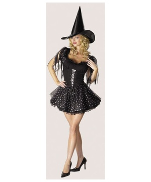 Silver Glitter Witch Women Costume