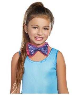 Dance Craze Purple Girls Bowtie