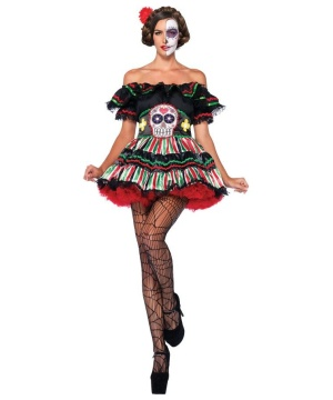Day of the Dead Doll Womens Costume deluxe