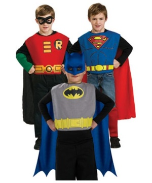 Dc Comics Action Trio Kids Costume Kit