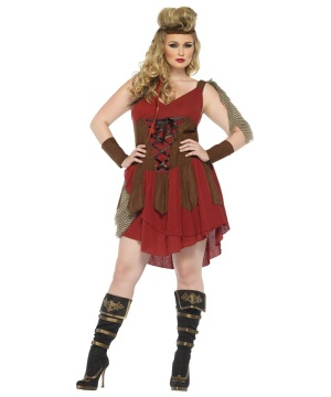 Deadly Huntress Womens Costume plus size deluxe 1x/2x