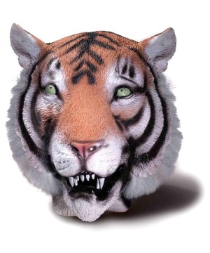 Latex Animal Mask Tiger deluxe