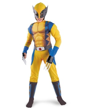 Wolverine Muscle Boys Costume