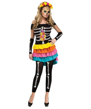Dia De Los Muertos Honey Womens Costume deluxe