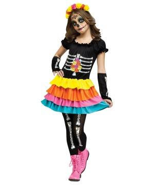 Dia De Los Muertos Sweetie Girls Costume deluxe