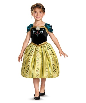 Frozen Anna Coronation Gown Girl Costume