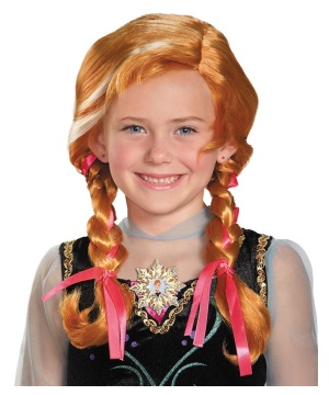 Disney Frozen Anna Girls Wig