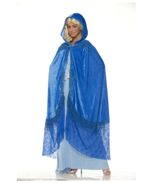 Elegant Sapphire Blue Cape
