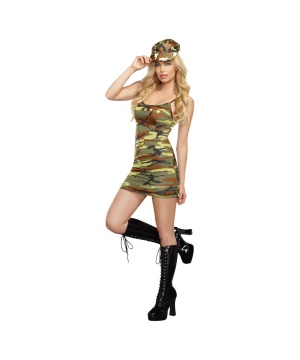 Five-star Soldier Womens Costume