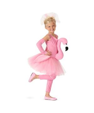 Flamingo Tutu Girls Costume deluxe