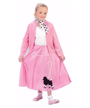Grease Poodle Skirt Girls Costume