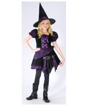 Purple Punk Witch Kids Costume
