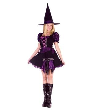 Purple Punk Witch Women Costume