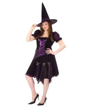 Purple Punk Witch Women plus size Costume