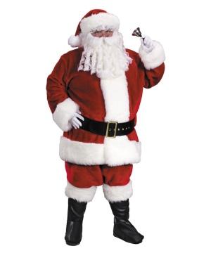 Mens plus size Regency Plush Red Santa Suit