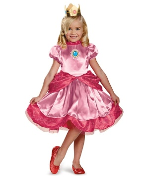 Girls Princess Peach Toddler Costume