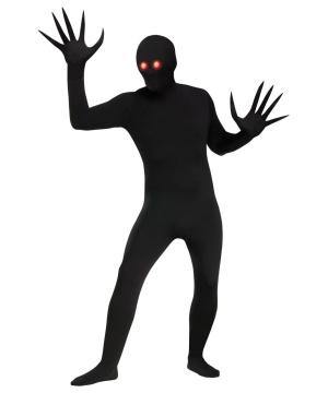 Fading Eyes Shadow Demon Skin Suit Adult Costume