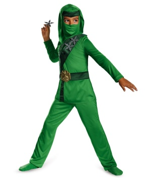 Green Master Ninja Classic Toddler/ Boys Costume