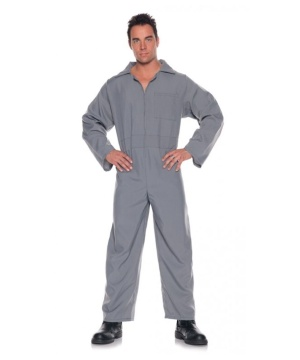 Grey Basic Jumpsuit Mens Costume