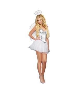 Heavenly Winged Angel Womens Costume