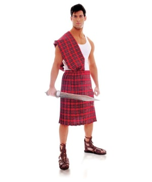 Highland Brave Warrior Mens Costume