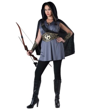 Huntress Katniss Womens plus size Costume