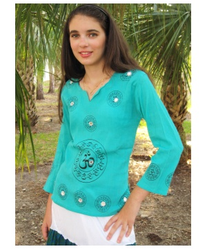 Om Printed Kurta Womens Ethnic Shirt