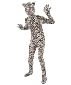 Invisible White Tiger Suit Kids Costume
