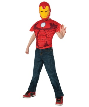 Iron Man Boys Costume Top