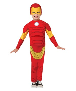 Ironman Toddler Boys Muscle Costume