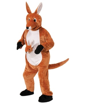 Jumpin Jenny the Kangaroo Mascot Adult Costume