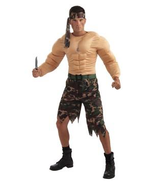 Jungle Commando Mens Muscle Costume