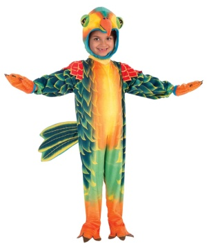 Plush Tropical Parrot Kids Costume