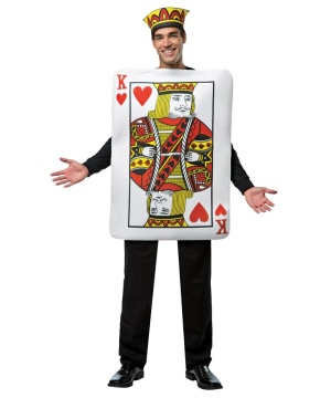 King of Hearts Unisex Card Costume